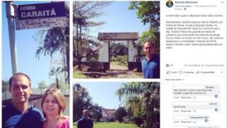 Post na página de Eduardo Bolsonaro