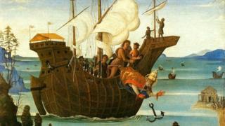 Martyrdom of St Clement, Bernardino Fungai c1500