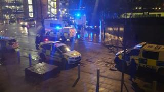 Emergency services attend stabbing outside train station