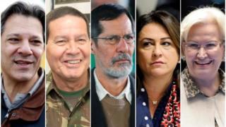 Fernando Haddad, General Mourão, Eduardo Jorge, Kátia Abreu e Ana Amélia