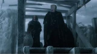 Trump is 'featured' in a scene from Game of Thrones