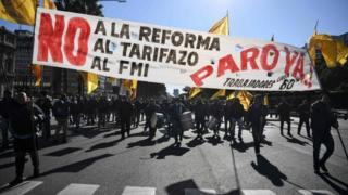 Demonstracije protiv IMF-a u Buenos Airesu