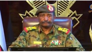 Le général Abdel Fatah Burhan, chef du Conseil militaire de transition
