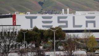 "A view of Tesla Inc""s U.S. vehicle factory in Fremont, California"
