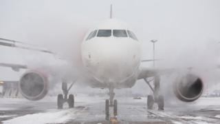Frozen aeroplane