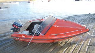 Jack Shepherd's speedboat