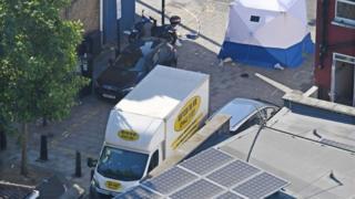 Finsbury Park mosque terror attack scene