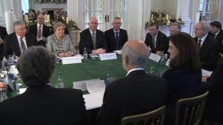 Meeting of British, Irish and Stormont ministers