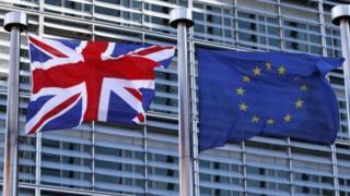 british and european union flag