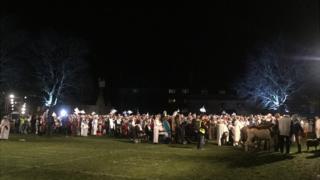 Nativity gathering in Calne