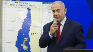 Bwana Netanyahu alitangaza kuhusu mipango yake kabla ya kufanyika kwa uchaguzi katika runinga siku ya Jumanne