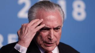 Michel Temer at a G20 press conference in November