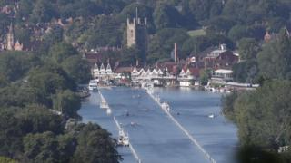 Practising at Henley Regatta