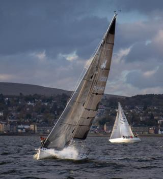 Yacht racing off Helensburgh
