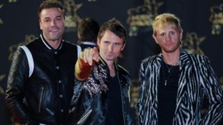 Muse (L-R): bassist Christopher Wolstenholme, singer Matthew Bellamy and drummer Dominic Howard