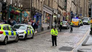 Police on the Royal Mile