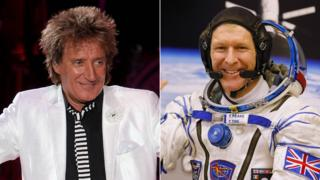 Rod Stewart and Tim Peake