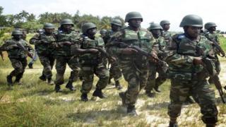 Wanajeshi wa Jeshi la Nigeria