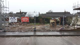 Two homes on Allington Drive, in Birstall, have been demolished