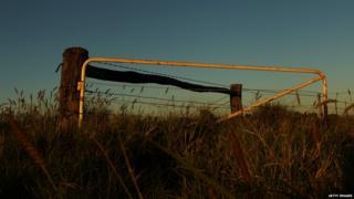 A farm gate, Australia
