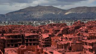 Danos em Jobar, Ghouta Oriental
