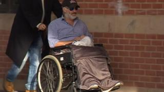 William Davenport, arriving in court last year in a wheelchair