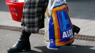 Aldi shopper in Germany