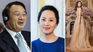 Ren Zhengei, Meng Wanzhou y Annabel Yao
