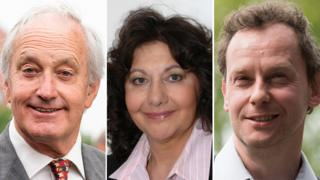 Neil Hamilton, Caroline Jones and Gareth Bennett