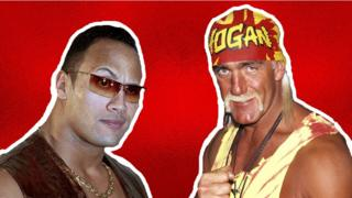 "Dwayne ""The Rock"" Johnson and Hulk Hogan"