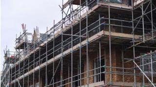 A new housing estate being built