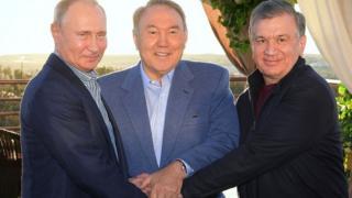 Путин, Мирзиёев, Назарбоев