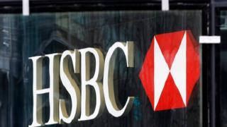 An HSBC logo