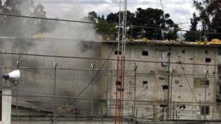 An explosion in the Modelo Prison in Bogota, Colombia, 3 July 2001.
