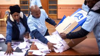 Counting during the South African election