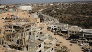 Construction site at the Israeli settlement of Elkana, in the occupied West Bank (19 November 2019)
