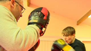 Ashley Brace training with dad Shaun Brace
