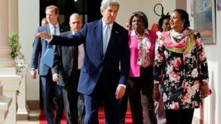 John Kerry oo booqanaya Kenya