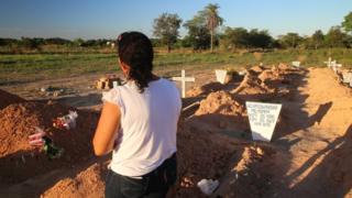 Cemitério de vítimas da chacina de Pau D'Arco, no Pará