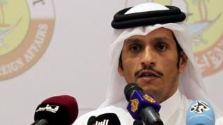 क़तर के विदेश मंत्री शेख़ मोहम्मद बिन अब्दुल रहमान अल थानी