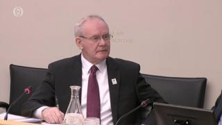 Northern Ireland's Deputy First Minister, Martin McGuinness, appearing before the Republic's Public Accounts Committee