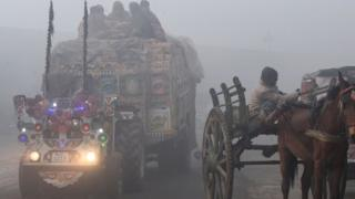 Lahore tractor in smog