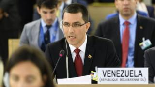 Venezuela's Foreign Minister Jorge Arreaza attends the 36th Session of the Human Rights Council at the United Nations in Geneva, Switzerland September 11, 2017