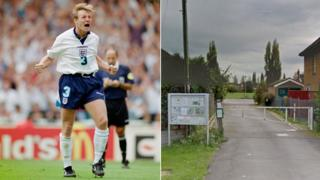 A composite image of Stuart Pearce and the home of Longford FC