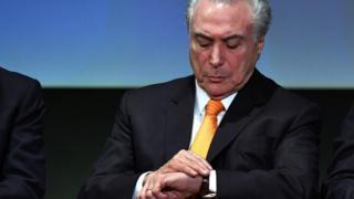Michel Temer em evento em São Paulo nesta terça-feira