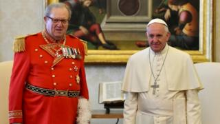 Grand Master Matthew Festing with Pope Francis