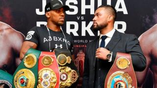 Anthony Joshua (left) and Joseph Parker