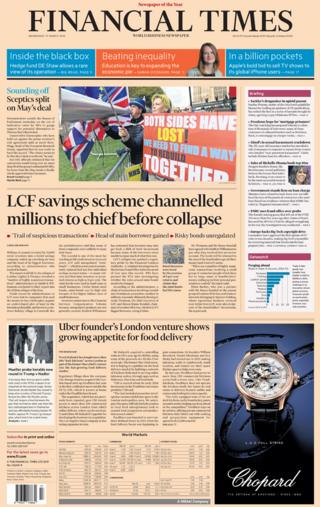 Financial Times front page, 27/3/19
