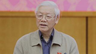 Tổng bí thư Trọng phát biểu hôm 24/11 khi tiếp xúc cử tri tại Hà Nội.