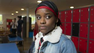 Letitia Wright in 2014's Glasgow Girls